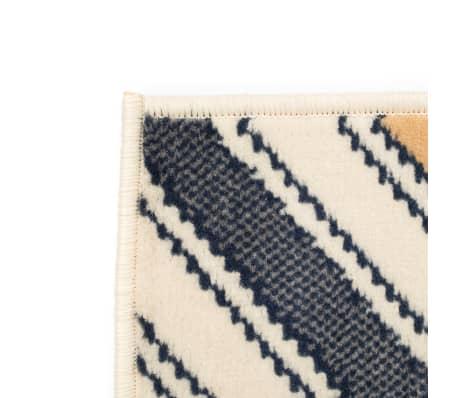vidaxl teppich modern zickzack 140 x 200 cm braun schwarz blau g nstig kaufen. Black Bedroom Furniture Sets. Home Design Ideas