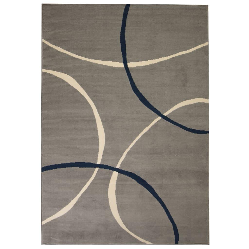 Moderní koberec s kruhovým vzorem 80 x 150 cm šedý