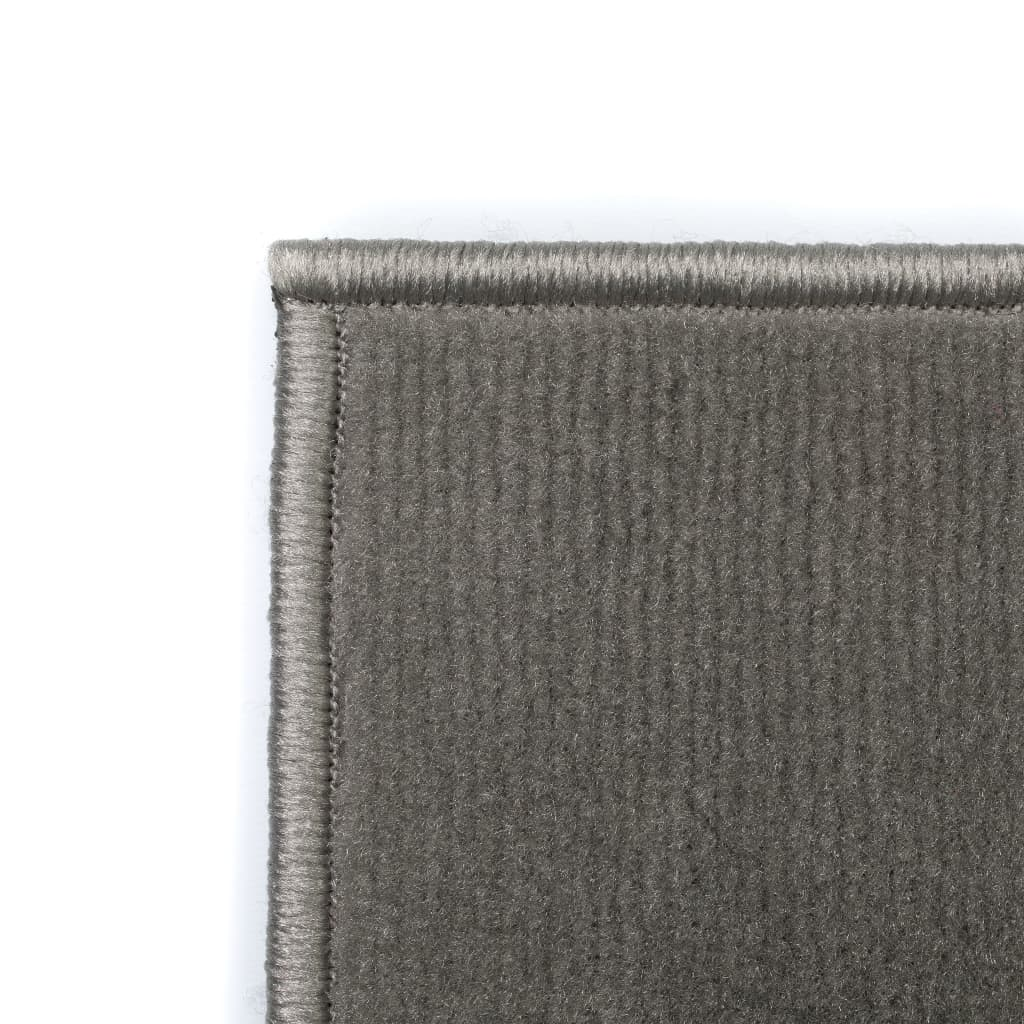 vidaXL Moderní koberec s kruhovým vzorem 80 x 150 cm šedý