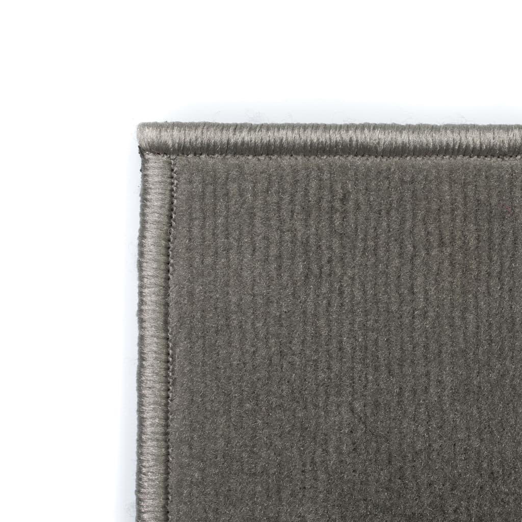 vidaXL Moderní koberec s kruhovým vzorem 140 x 200 cm šedý