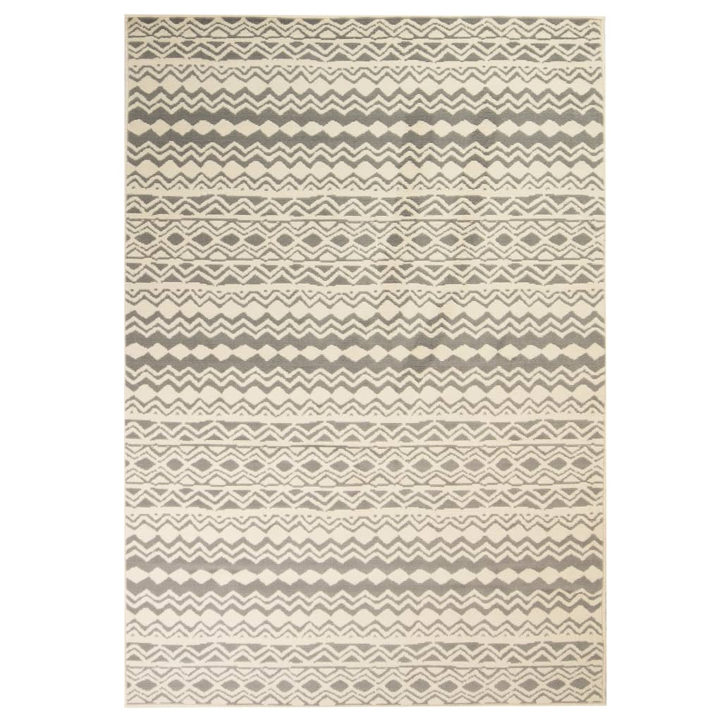 Moderní koberec s tradičním vzorem 80 x 150 cm béžovo-šedý