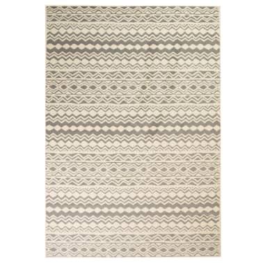 vidaXL Teppich Modern Zickzack-Design 160 x 230 cm Beige/Grau[1/5]