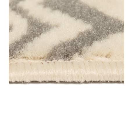 vidaXL Teppich Modern Zickzack-Design 160 x 230 cm Beige/Grau[3/5]