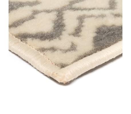vidaXL Teppich Modern Zickzack-Design 160 x 230 cm Beige/Grau[4/5]