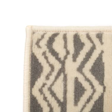 vidaXL Teppich Modern Zickzack-Design 160 x 230 cm Beige/Grau[2/5]