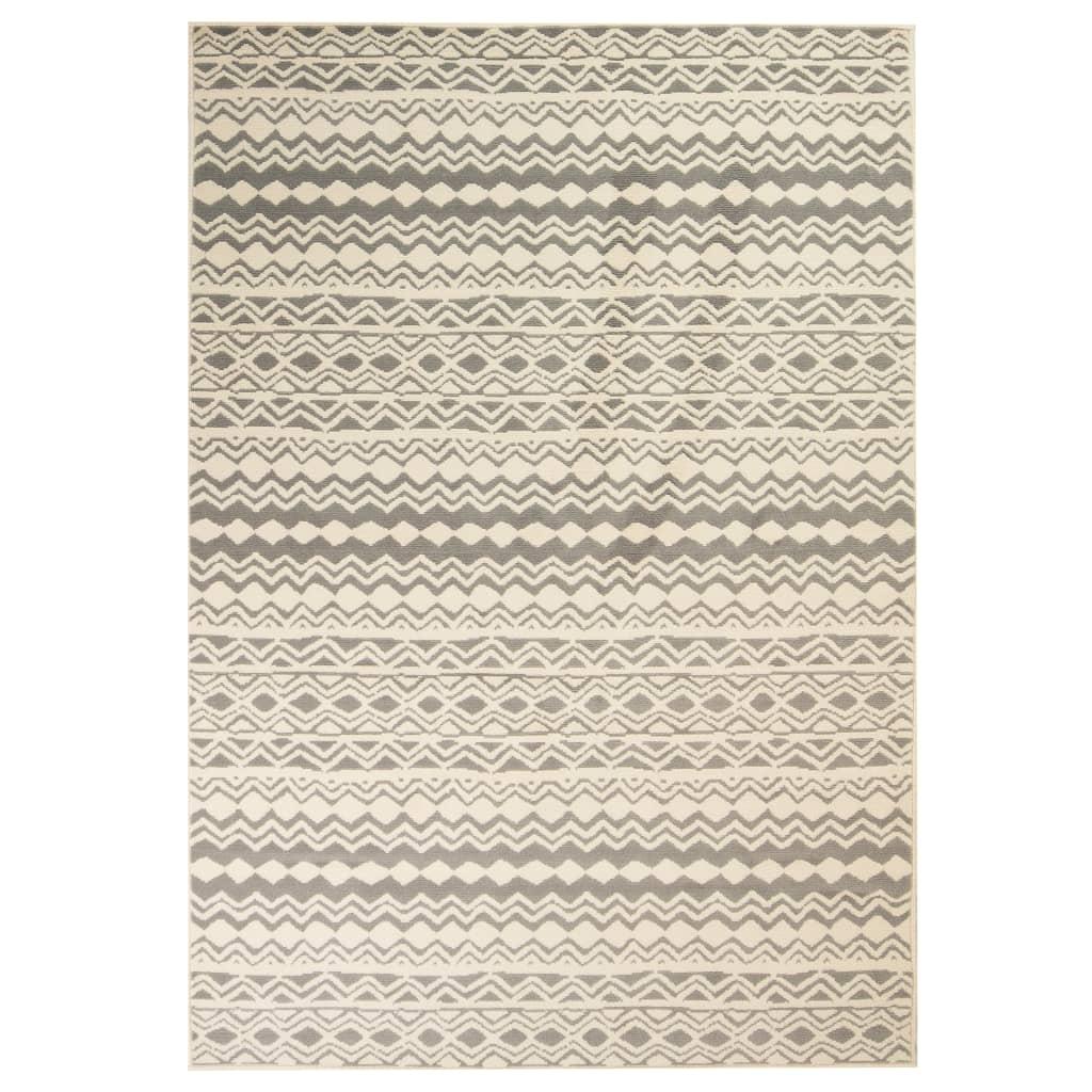 vidaXL Teppich Modern Zickzack-Design 180 x 280 cm Beige/Grau