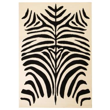 vidaXL Teppich Modern Zebrafell-Optik 80 x 150 cm Beige/Schwarz[1/5]