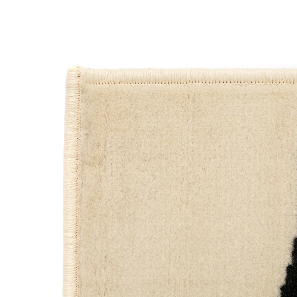 VidaXL-Tappeto-Moderno-con-Motivo-a-Zebra-80x150-cm-Beige-Nero-Arredo miniatura 2