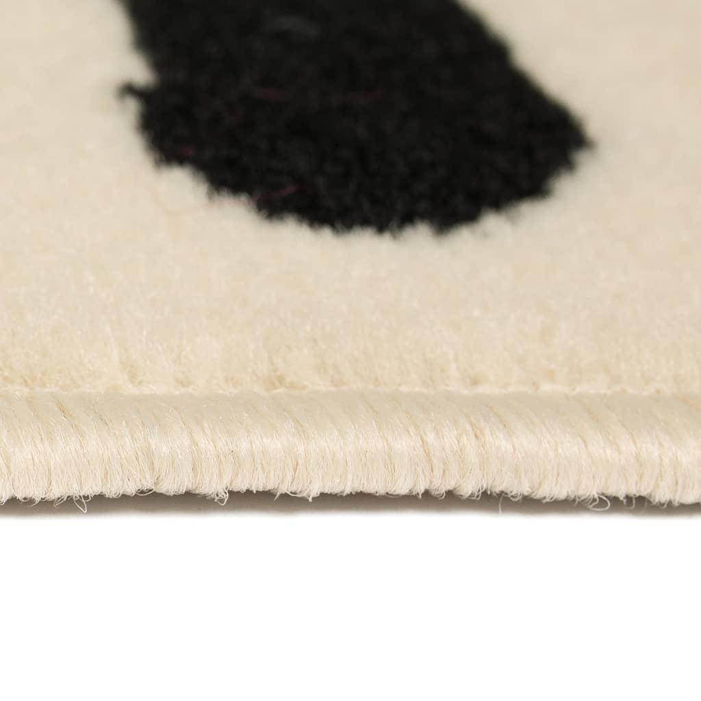 VidaXL-Tappeto-Moderno-con-Motivo-a-Zebra-80x150-cm-Beige-Nero-Arredo miniatura 3