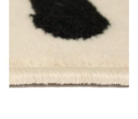 vidaXL Teppich Modern Zebrafell-Optik 80 x 150 cm Beige/Schwarz[3/5]
