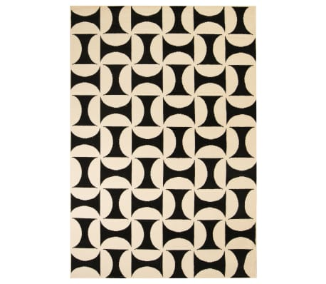vidaxl teppich modern geometrisches muster 80 x 150 cm beigeschwarz15 - Teppich Geometrisches Muster