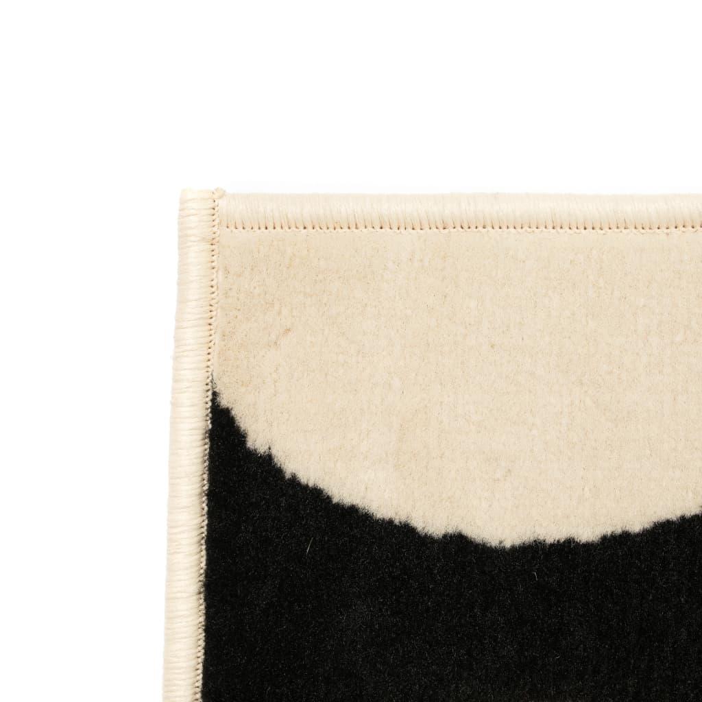 vidaXL Vloerkleed modern geometrisch ontwerp 120x170 cm beige/zwart