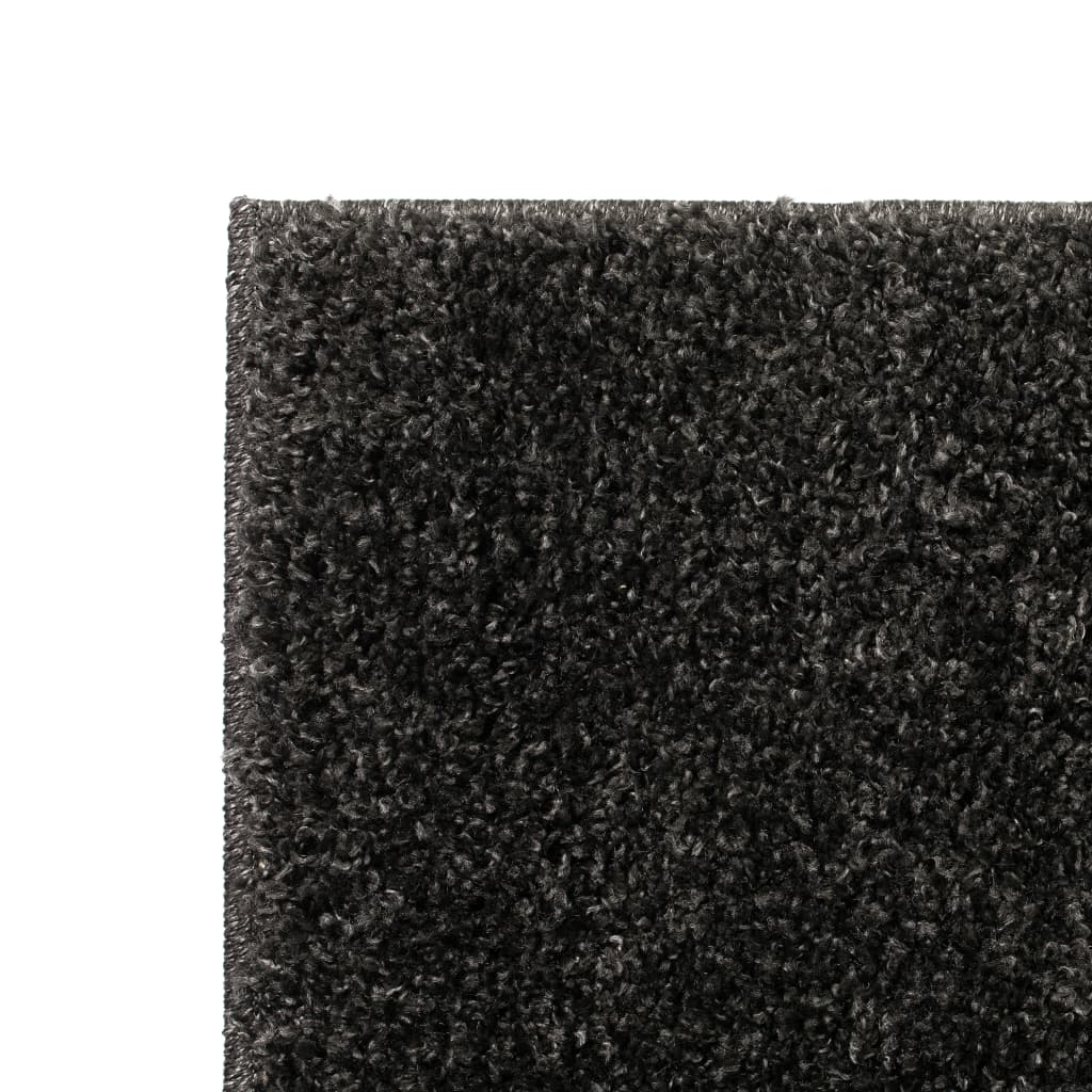 vidaXL Kusový koberec Shaggy 80 x 150 cm antracitový