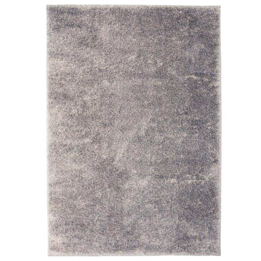 Kusový koberec s vysokým vlasem Shaggy 80 x 150 cm šedý