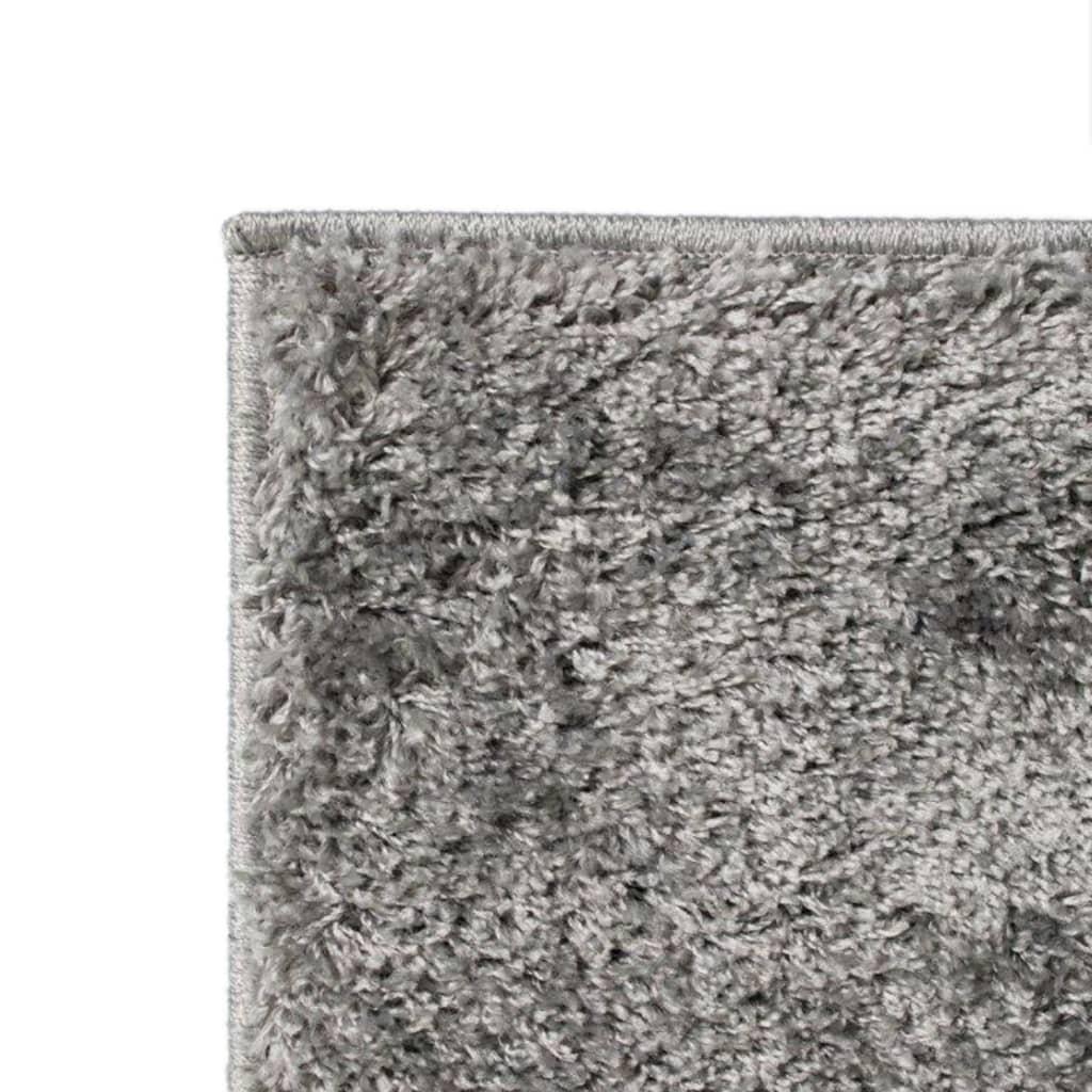 vidaXL Kusový koberec s vysokým vlasem Shaggy 80 x 150 cm šedý