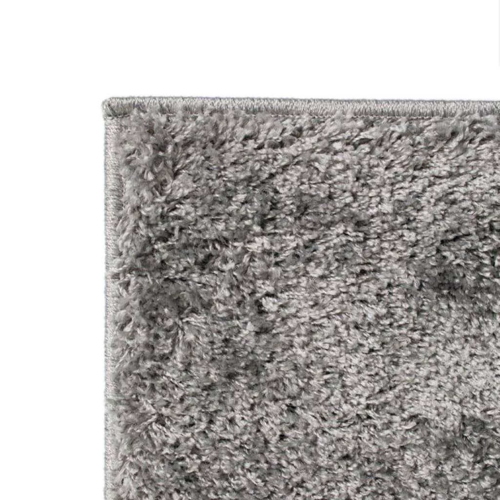 vidaXL Kusový koberec s vysokým vlasem Shaggy 140 x 200 cm šedý