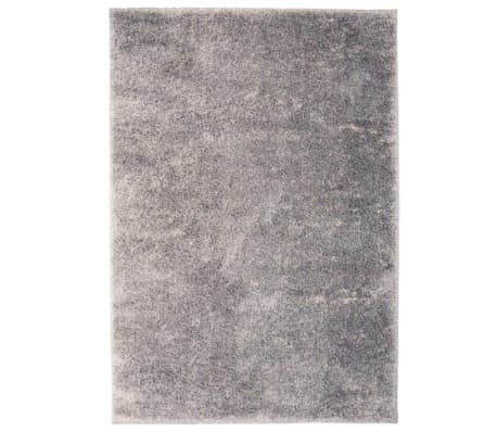 acheter vidaxl tapis poils longs 160 x 230 cm gris pas cher. Black Bedroom Furniture Sets. Home Design Ideas