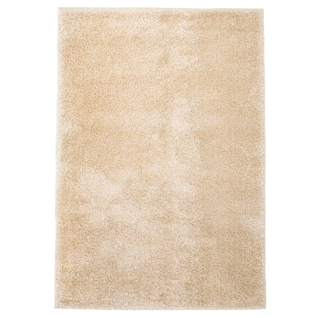 Kusový koberec s vysokým vlasem Shaggy 80 x 150 cm béžový