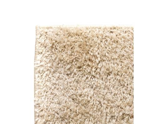 Vidaxl alfombra shaggy peluda 80x150 cm beige - Alfombra beige ...