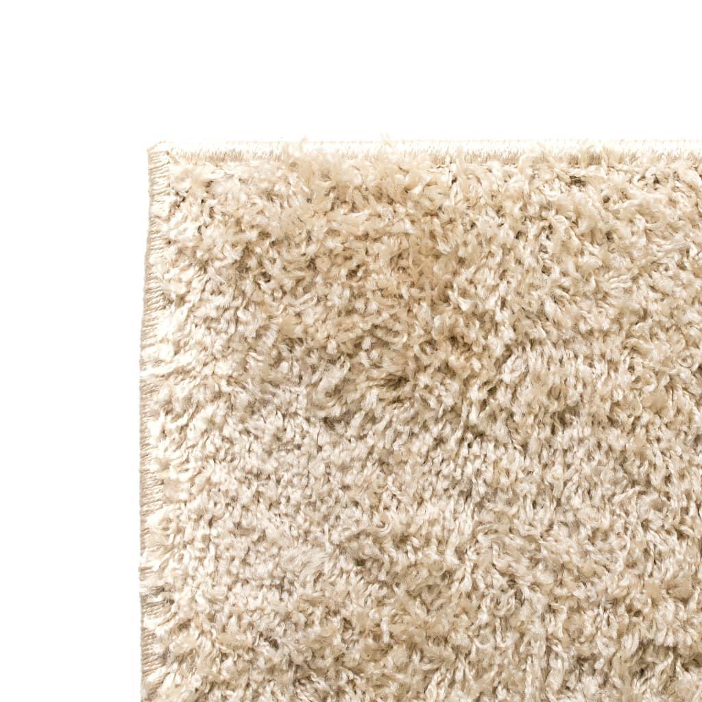 vidaXL Kusový koberec s vysokým vlasem Shaggy 140 x 200 cm béžový