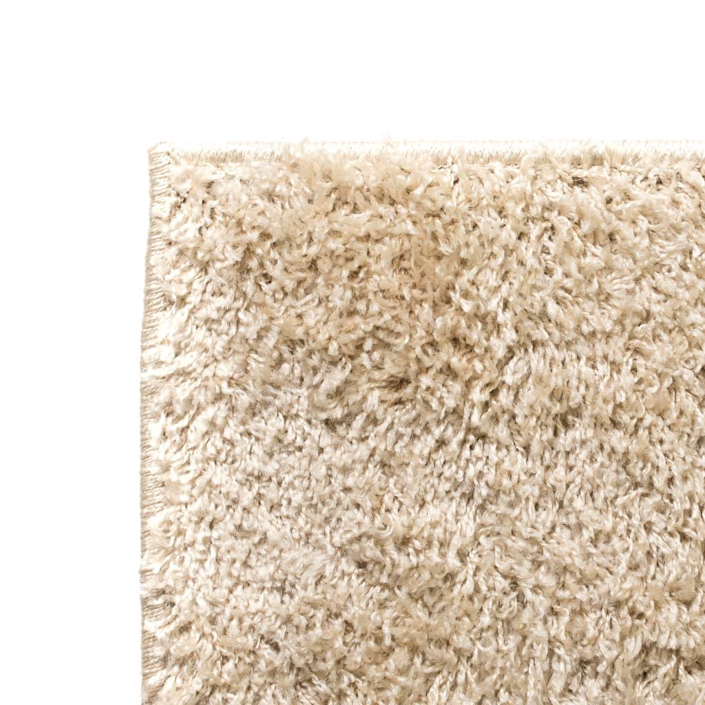 vidaXL Kusový koberec s vysokým vlasem Shaggy 160 x 230 cm béžový