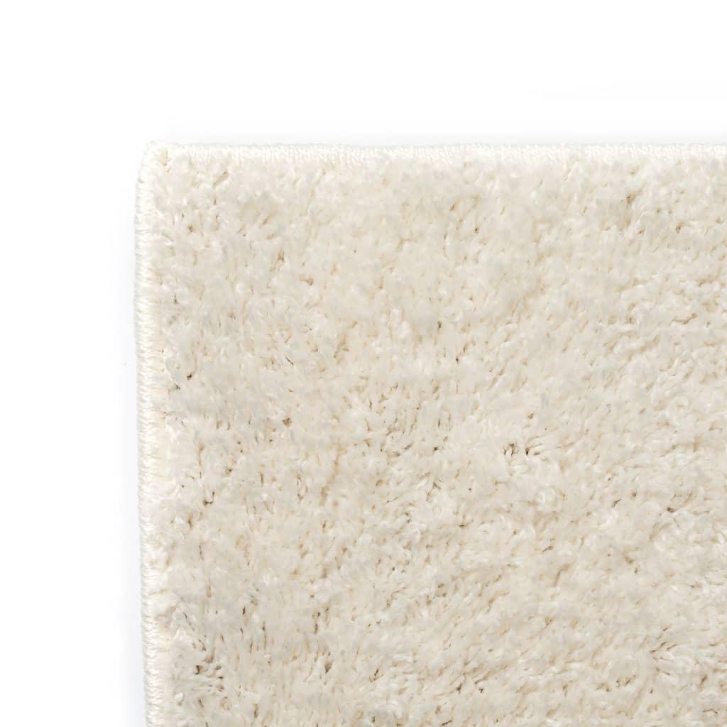 vidaXL Kusový koberec s vysokým vlasem Shaggy 120 x 170 cm krémový