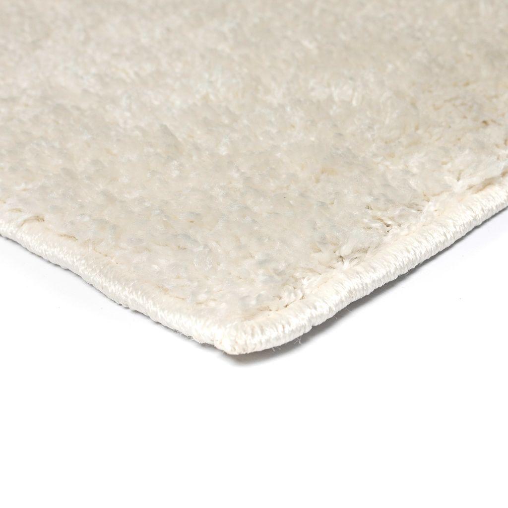 Vloerkleed shaggy hoogpolig 140x200 cm crème