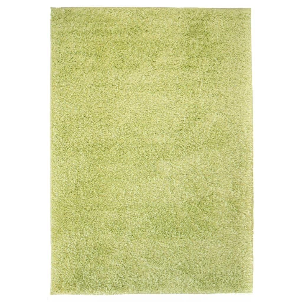 Kusový koberec s vysokým vlasem Shaggy 80 x 150 cm zelený