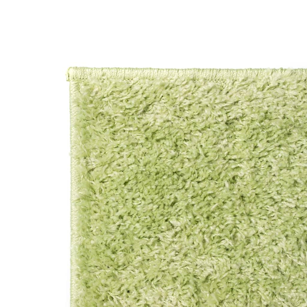 vidaXL Kusový koberec s vysokým vlasem Shaggy 80 x 150 cm zelený