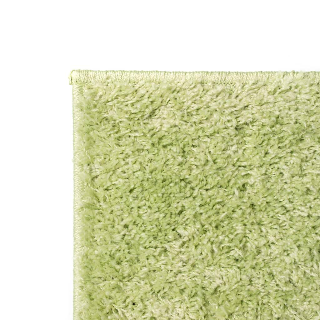 vidaXL Kusový koberec s vysokým vlasem Shaggy 120 x 170 cm zelený