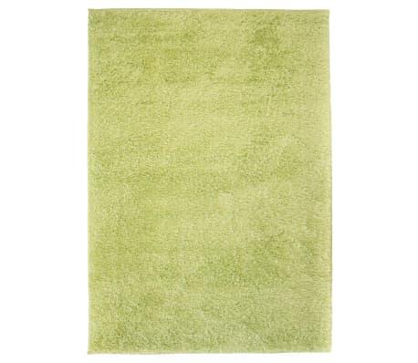 vidaXL Košata preproga 140x200 cm zelene barve