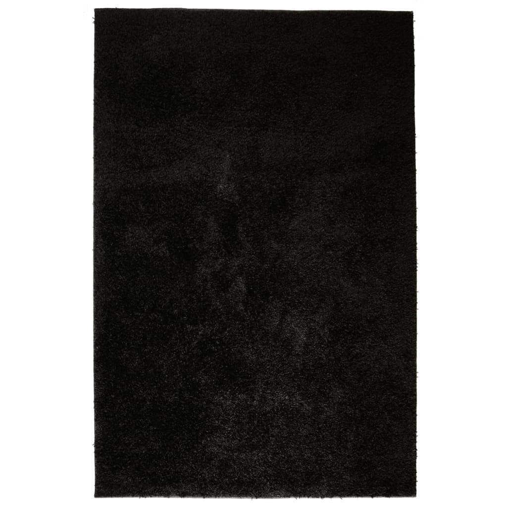 vidaXL Χαλί Shaggy Μαύρο 120 x 170 εκ.