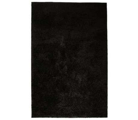 vidaXL Košata preproga 120x170 cm črne barve
