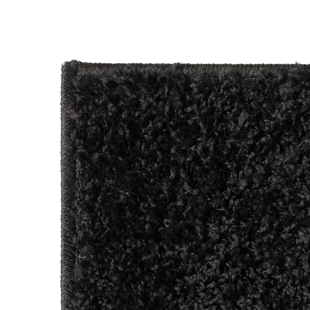 vidaXL Kusový koberec s vysokým vlasem Shaggy 120 x 170 cm černý
