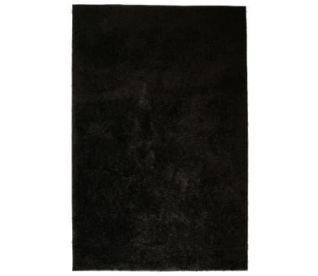 vidaXL Košata preproga 140x200 cm črne barve