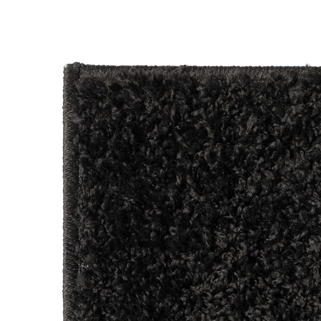 vidaXL Kusový koberec s vysokým vlasem Shaggy 140 x 200 cm černý