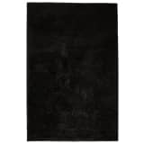 vidaXL Alfombra shaggy peluda 160x230 cm negra