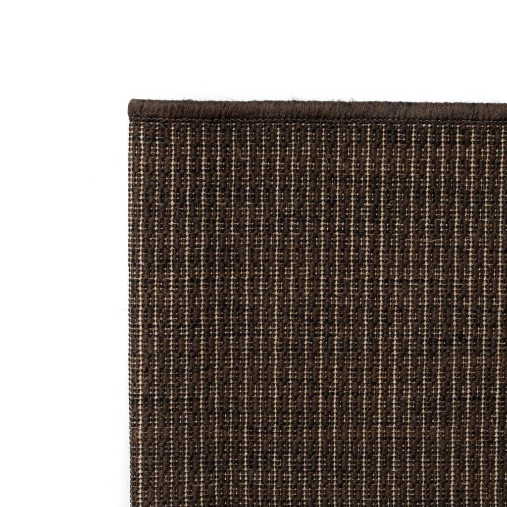 vidaXL Venkovní/vnitřní kusový koberec, sisálový vzhled 80x150cm hnědý