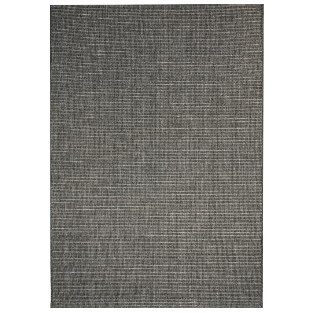 999133072 Webteppich Sisal-Optik Indoor/Outdoor 80 x 150 cm Dunkelgrau