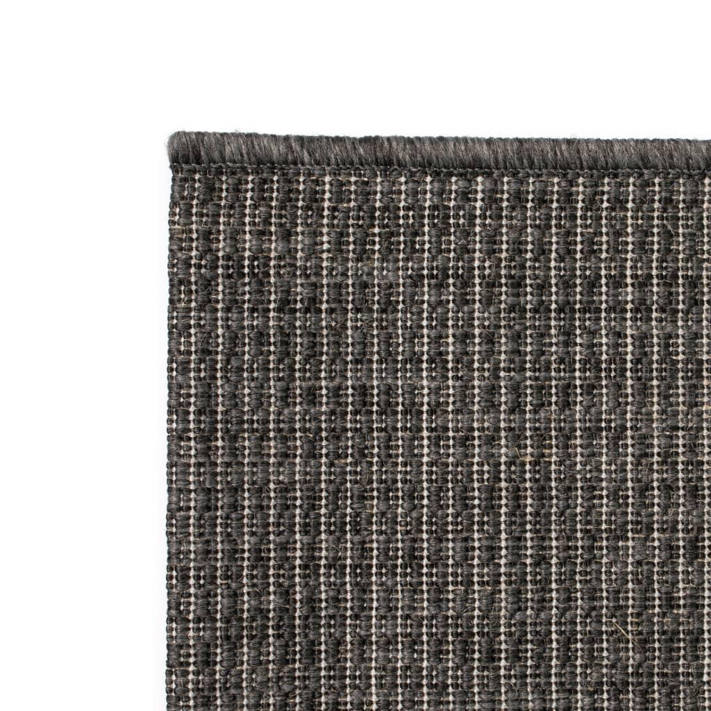 vidaXL Venkovní/vnitřní kusový koberec, sisal vzhled 80x150cm tm. šedý