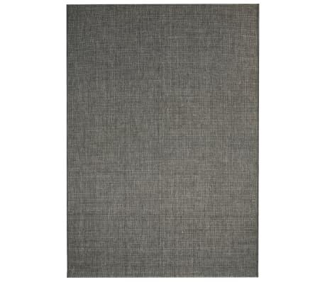 vidaXL Matta sisallook inomhus/utomhus mörkgrå 120x170 cm