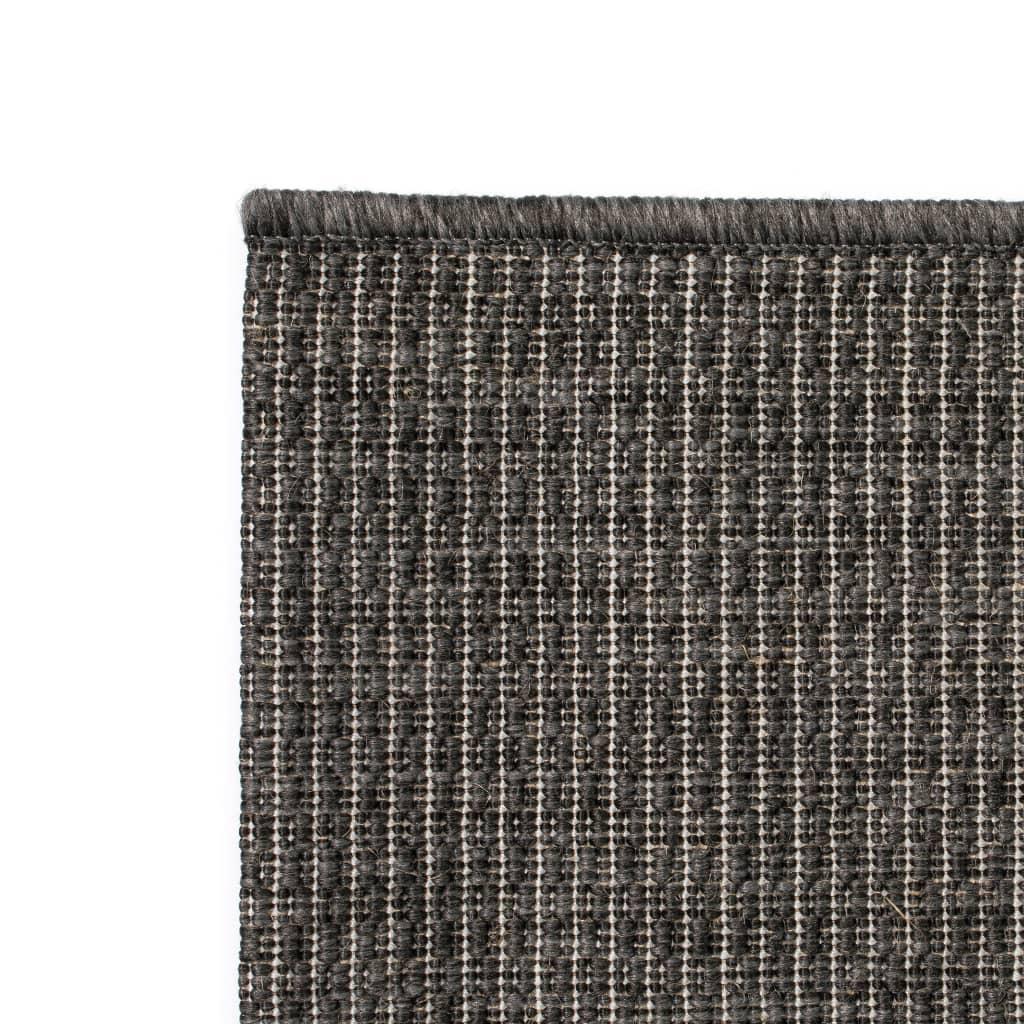 vidaXL Venkovní/vnitřní kusový koberec, sisal vzhled 120x170cm tm.šedý