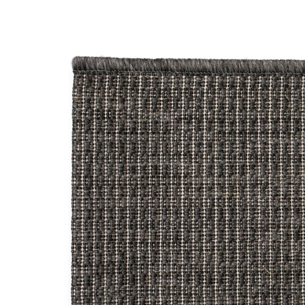 vidaXL Venkovní/vnitřní kusový koberec, sisal vzhled 140x200cm tm.šedý