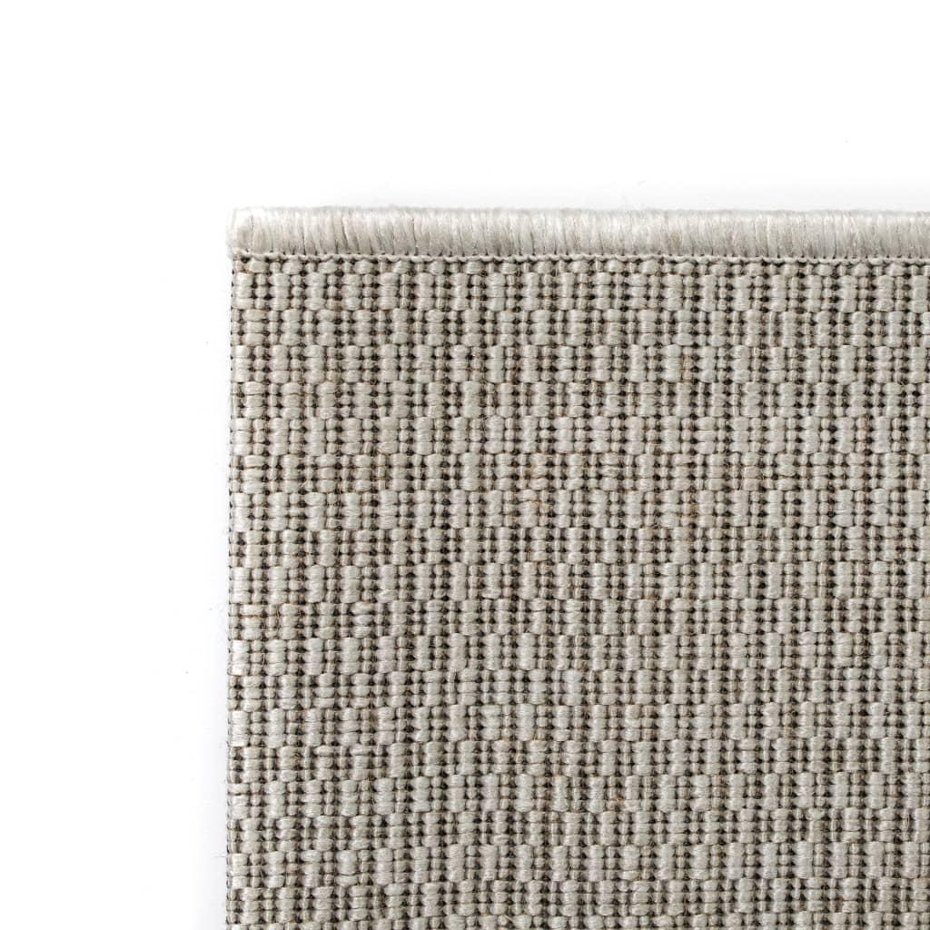 vidaXL Venkovní/vnitřní kusový koberec, sisal vzhled 120x170cm šedý