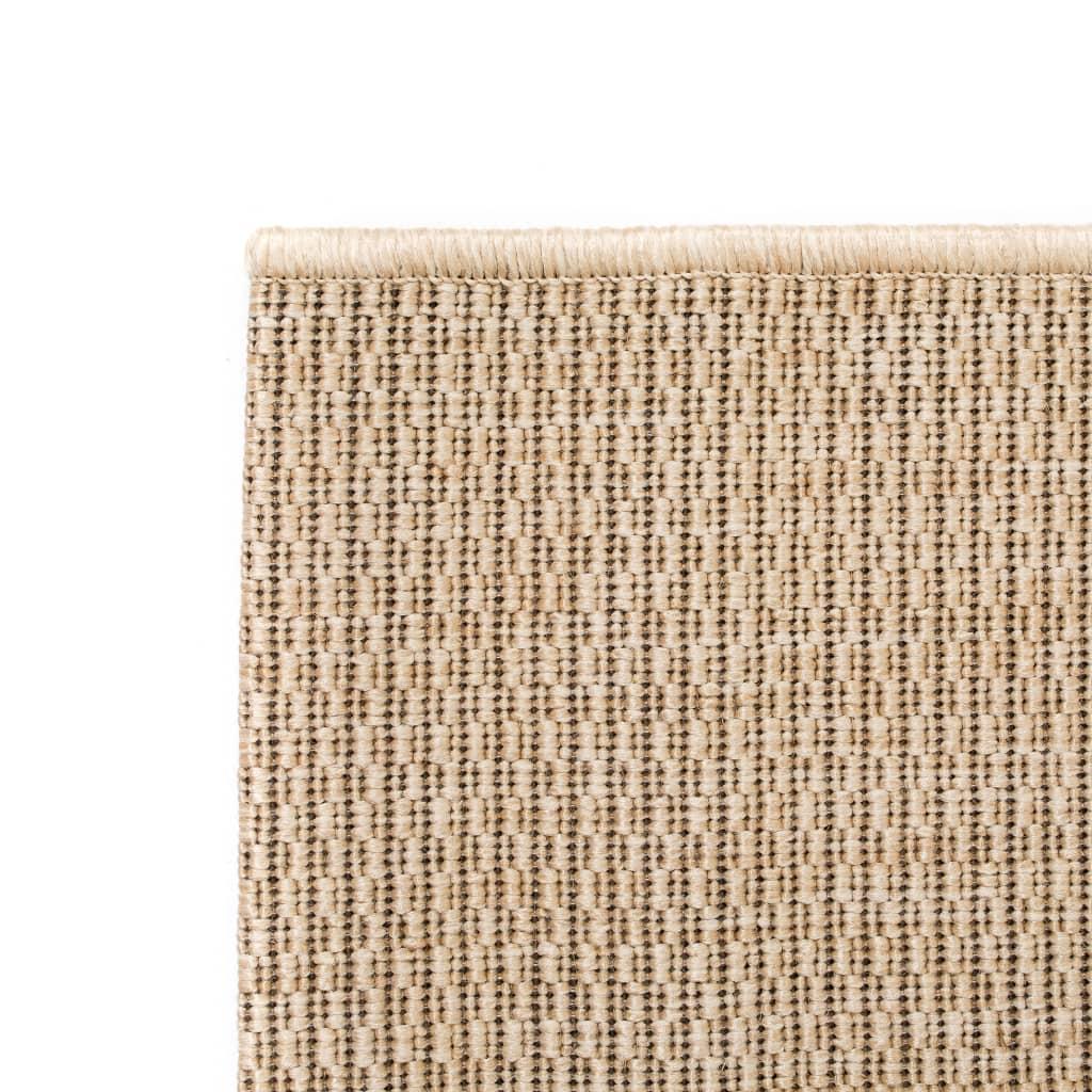 vidaXL Venkovní/vnitřní kusový koberec, sisal vzhled 80x150cm béžový