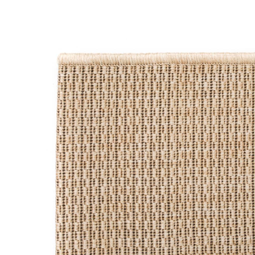 vidaXL Venkovní/vnitřní kusový koberec, sisal vzhled 140x200cm béžový