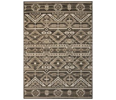 acheter vidaxl tapis d 39 ext rieur d 39 int rieur aspect sisal 80x150cm g om trique pas cher. Black Bedroom Furniture Sets. Home Design Ideas
