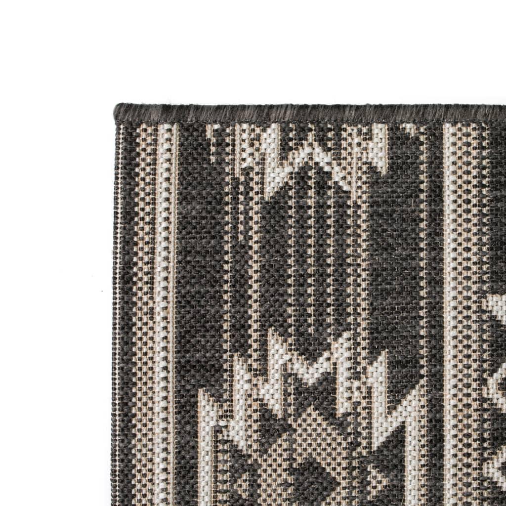 vidaXL Venkovní/vnitřní kusový koberec, sisal, 140x200cm geometrický