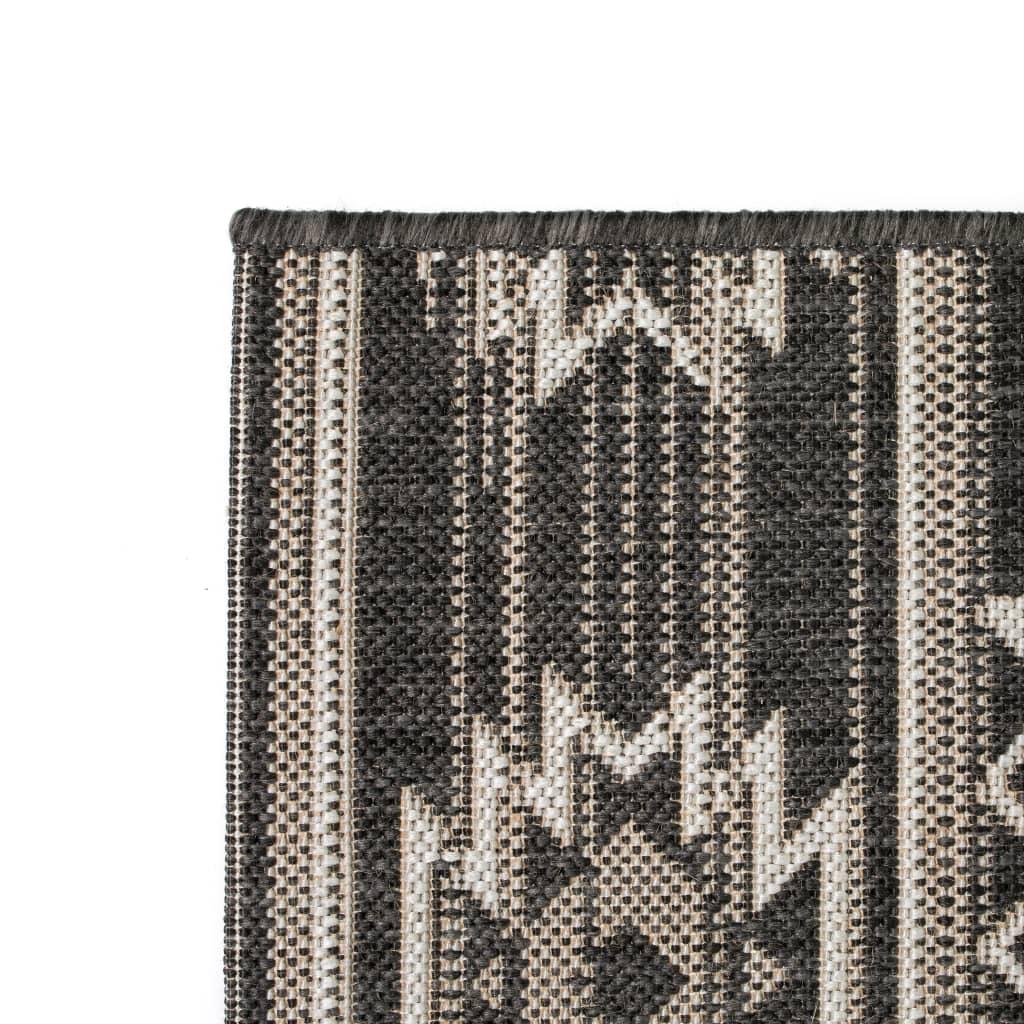 vidaXL Venkovní/vnitřní kusový koberec, sisal, 160x230cm geometrický
