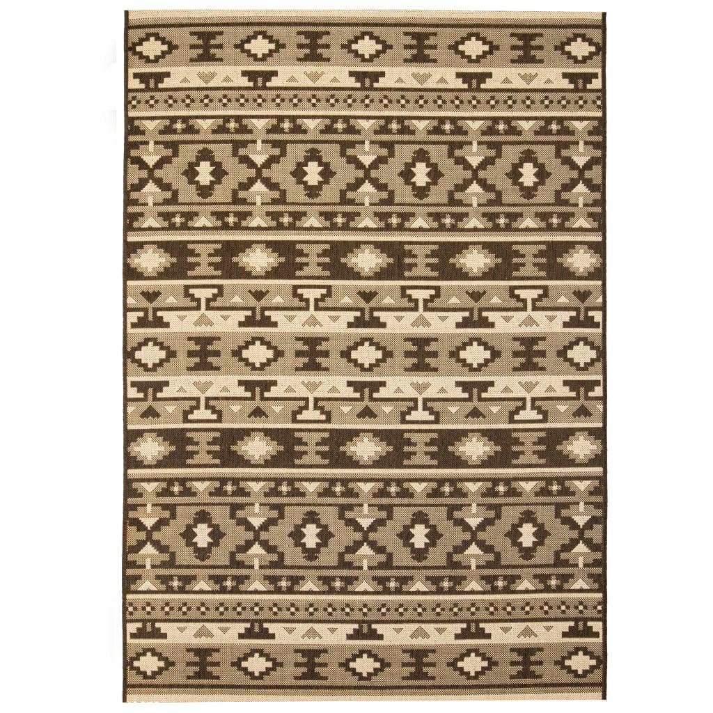 Venkovní/vnitřní kusový koberec, sisal, 80x150cm etnický vzor